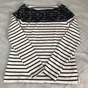 Joe Fresh Tops - Joe Fresh lace stripe top, size xs